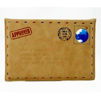 Wholesale PU Leather Letter Post Envelope Fiber Mail Envelope Style Case Cover Pouch For ipad2 ipad3 ipad4 ipad Air ipad Air2