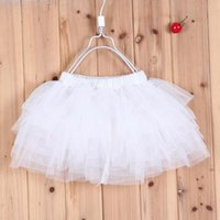 Wholesale New Baby girls fluffy pettiskirts tutu princess skirts Baby girl children s pure white lace clothes age