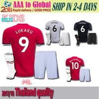 1162b5b85e1 Soccer Short Polyester Thai quality POGBA shirts Man Utd kids soccer jerseys  Kis+Socks 17