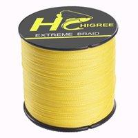 Wholesale HIGREE New Brand Fishing Line m LB MM PE Braid Line Moss Green Red Grey Yellow Black