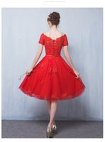 Wholesale New short dress the bride wedding dress romantic lace dress fashion dress celebrate festival