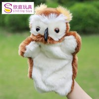 baby gifts owl - Children Hand Puppet kids doll baby plush Stuffed Toy New arrival Owl style Puppets toys Christmas birthday gift