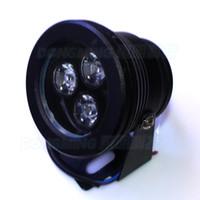 Wholesale W DC12V RGB underwater led lamp flat lens aquarium pool light black body underwater lights party supplies decoration