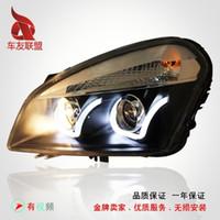 Wholesale Nissan Qashqai Longding headlight performance lamp bifocal lens U angel eyes LED Bi xenon headlight assembly