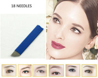 Wholesale 50PCS Dispable Permanent Makeup Manual Eyebrow Tattoo Bevel Blade Pin Needles