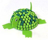 Wholesale 3D DIY Creative EVA Foam Mosaic Miniature Cartoon Animal Assembly Puzzle Kit Educational Toy Gift for Kids Turtle