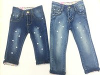baby pants washing - Baby Kids Girs Jeans Pants Baby Group MOS T Trousers Elastic Jeans Denim Elastic Waist Hot Drilling Jeans