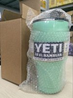 Wholesale YETI Tumbler colors Rambler Cups Yeti Coolers Cup oz Yeti Sports Mugs Large Capacity Stainless Steel Travel Mug