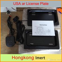 Wholesale 2016 USA Size mm Metal remote Car License Plate frame Auto Vehicle Licence Plate Frame for American Vehicle