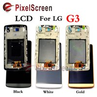 Wholesale For LG G3 D855 D850 LCD Display Touch Screen with Digitizer Bezel frame Assembly White Black Gold