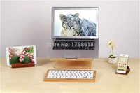 Wholesale Wood Laptop Stand Holder Notebook Radiator for Macbook Air Retina Pro inch Original Samdi Wooden PC
