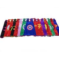 autumn favors - Children superhero capes party favors customize logo Superman Spiderman Batman Captain America Ironman mono layer capes Kids Poncho