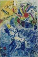 Сотворение человека, 1956-58 Марка Шагала, высококачественной натуральной масляной живописи расписанную абстрактного искусства на холсте заказной размер