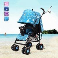 baby carriage wheels - Folding Baby Stroller Portable Baby Carriage Shockproof Pushchairs Lightweight Umbrella Stroller Cart Prams Wheels JN0071 salebags