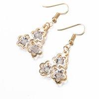 beautiful bridesmaid jewelry - 3 Stars Crystal Pendant Necklace Earring Bridesmaid Bride Fashion Accessories Zircon Wedding Jewelry Beautiful Beauty Women Girl