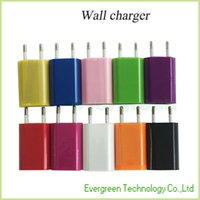 Wholesale AC Cellphone EU Plug Wall Charger Power Adapter V MAH Universal Travel USB Charger High Quality