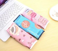 Wholesale Kawaii Pencil Bag Students Creative Macaron Nut Biscuit Style Pencil Cases Stationery Material Escolar Office Supplies