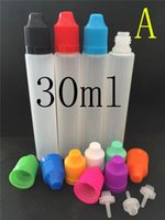 Cheap 30ml Unicorn Bottles 15ml PE E Liquid Empty Bottles For E Cigarettes Pen Style Vape Juice Bottle Long Tips Colorful Child Proof Caps