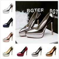 beautiful fall colors - 2016 Stylish High heeled Shoes Colors Women s Pumps Pointed Toe Waterproof Sweet Women office OL Shoes Sexy Beautiful Single Party Shoes