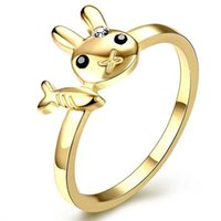 Wholesale 2016 hot selling European and American fashion personality cute cartoon Ring