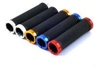 Wholesale Multi colors Double Lock on Nonslip Rubber Mountain Bike Bicycle Cycling Handlebars Handle Bar Grips