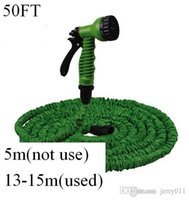 Wholesale 2016 HOT FT Water Car Hose Reels for Garden pipe with spray Gun With EU or US connector Blue Green