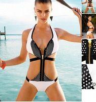 america manufacturers - Burst models in Europe and America bikini swimsuit female Siamese zipper corset women s swimwear manufacturers DFMBK220 bikinis