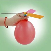airplane party bags - Traditional Classic Balloon Airplane Helicopter For Kids Child Party Bag Filler Flying Toy outdoors random color
