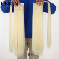 Wholesale blonde ponytail hair extension fake hair ponytails straight long synthetic pony tail hair extensions ponytail hairpieces tone