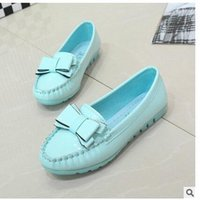 b mom - Flat casual shoes sweet bow shallow mouth Peas shoes slip mom shoes nurse singles shoes stylish and comfortable shoes multicolor