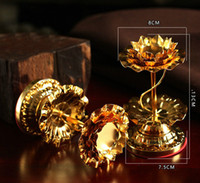 Religious Activities art butter - Candle Holders Buddhist Supplies Lotus Butter Lamp Holder Gilding