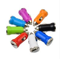 Wholesale Car charger USB Charger Universal Adapter for Samsung iphone S MP3 MP4 player for all Mobile Phones Mini USB Car Charger