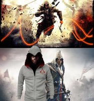 assassins movies - NEW Assassins Creed Hoodies Connor Kenway Cosplay Costume mens jackets and coats Size S M L XL XL XL