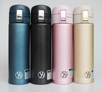 Wholesale Double Walled Vacuum Thermos Cup Insulated Stainless Steel Water Bottle support color mix order