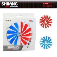 Wholesale ALSEYE SHINIG LED mm Case fan V DC Computer pin RPM Chassis cooling fan