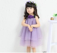 Wholesale new summer girls skirt gauze and the wind Halter sleeveless boy princess dress L213