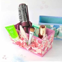 Wholesale Fashion Cheap Brand New Folding Multifunction Make Up Cosmetic Storage Box Container Bag Case MTY3 H1118