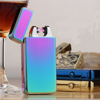 Wholesale Enhanced Double Arc Style USB Lighter Electronic Tobacco Dual Arc Rechargeable Cigarette Lighter With Gift Box