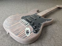 Wholesale Zebrawood body electric guitar unfinished guitar