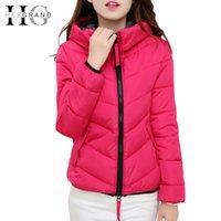 Wholesale Invierno Winter Coat Jacket Women Fashion Slim Hooded Zipper Candy Color Short Down Coats Jaqueta Feminina WWY059