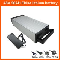 Wholesale 1000W W V AH Rear Rack battery V Ebike lithium battery with A BMS V A charger