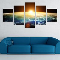 Cheap 5 Piece(No Frame) Hot Sell Sunrise Modern Home Wall Decor Canvas picture Art HD Print Painting Set of 5 Each Canvas Arts