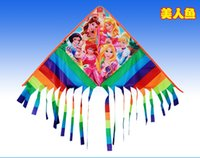 Wholesale high quality rainbow glider kite with handle line kite games bird kite weifang kite flying dragon hcxkite