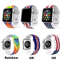 apple unions - The Union Flag US UK Flag The Stars and Stripes in Silicone Watchband Strap For Apple Watch Sport mm mm iWatch Bracelet