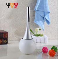 bathroom wash bowls - Creative Style Bathroom Wash Toilet Brush Toilet Bowl Brush Holder Stainless Steel Base