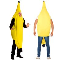 Wholesale Yellow Adult Sexy Unisex Funny Lightweight Banana Costume Suit Novelty Halloween Carnival Party Mascot Clothing Fancy Dress