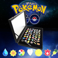Wholesale Zorn toys Poke Pokémon go Alloy jewelry Gym Leader Alloy Badge brooch style Gift Box Boulder Badge
