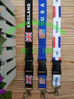 Wholesale 100pcs Lanyard KEYCHAIN USA ENGLAND HOLLAND KEYCHAIN