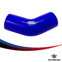 Wholesale PQY RACING BLUE quot quot MM MM degree Elbow Silicone Hose Pipe Turbo Intake PQY SH4522525BL