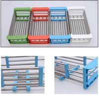 Wholesale Adjustable In Sink Drying Rack Over Sink Dish Drainer Defrosting Foods Cooling Rack Over the Sink Space Saver